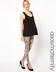ASOS Maternity Exclusive Paint Splatter Legging