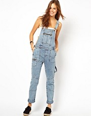 ASOS Denim Dungarees with Utility Detail