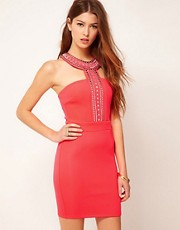 Lipsy T Bar Embellished Dress