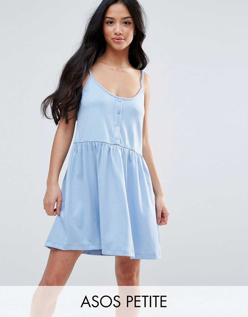 ASOS PETITE Cami Smock Dress with Button Placket - Multi