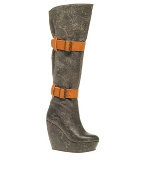 Image 1 ofMinimarket Odin Leather Knee High Boot