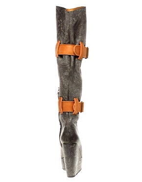 Image 2 ofMinimarket Odin Leather Knee High Boot