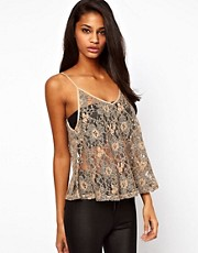 ASOS Cami in Two Tone Lace