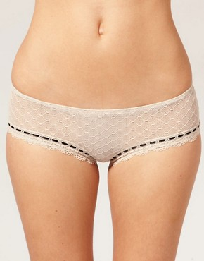 Image 1 ofVero Moda Intimates Ribbon Slot Hipster Brief