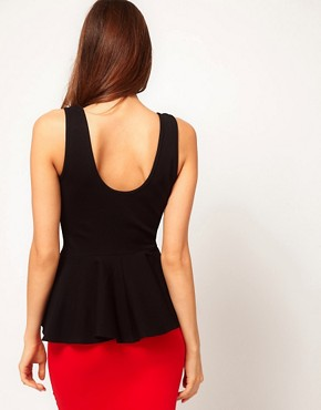 Image 2 ofASOS Top with Extreme Peplum in Scoop Neck