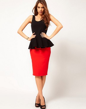 Image 4 ofASOS Top with Extreme Peplum in Scoop Neck