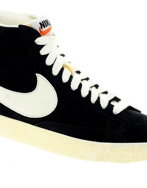 Image 4 ofNike Blazer Mid Black Suede Trainers