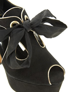 Image 3 of Moschino Cheap and Chic Dorothea Lace Up Heeled Shoes