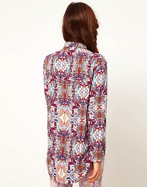 Image 2 ofASOS Africa Shirt in Mirror Print