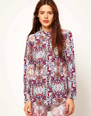 Image 1 ofASOS Africa Shirt in Mirror Print