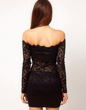 Image 2 ofASOS Sexy Top with Off Shoulder Detail in Lace