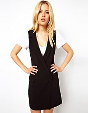 ASOS Mini Dress With Lapel Wrap
