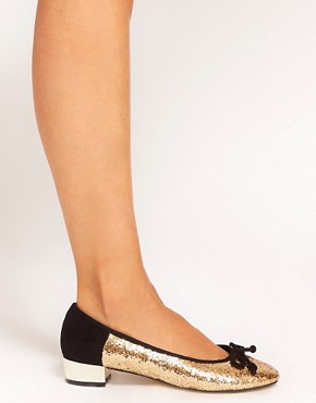 Image 3 of ASOS LAKE Ballet Flats with Block Heels