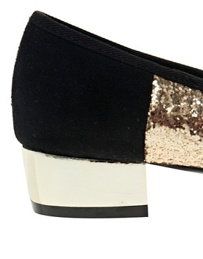 Image 4 of ASOS LAKE Ballet Flats with Block Heels