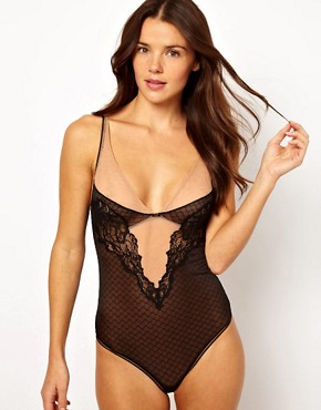 Image 1 ofCalvin Klein Black Lace Body