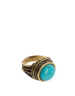 Image 1 ofASOS Ornate Signet Ring