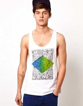 Image 1 ofASOS Vest With Diamond Print