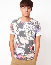 ASOS T-Shirt With Mickey All Over Sublimation Print