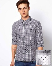 ASOS Check Shirt with Polka Dot Print