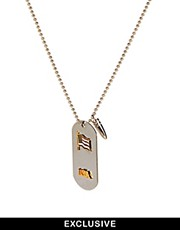 Reclaimed Vintage Dogtag Necklace