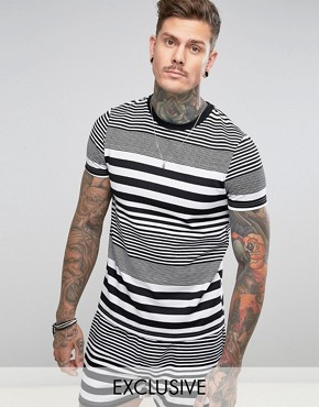 Reclaimed Vintage Inspired Ringer T-Shirt In Stripe
