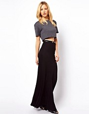 ASOS Jersey Maxi Skirt with Seam Detail