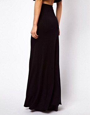 Image 2 ofASOS Jersey Maxi Skirt with Seam Detail