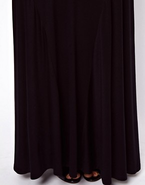 Image 3 ofASOS Jersey Maxi Skirt with Seam Detail