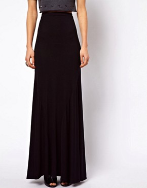 Image 4 ofASOS Jersey Maxi Skirt with Seam Detail