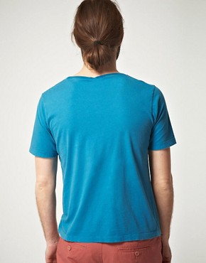Image 2 ofNudie Organic Wide Neck Devil Dye T-Shirt