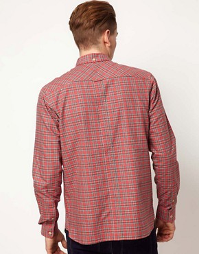 Image 2 ofFred Perry Oxford Shirt Tartan Pinpoint
