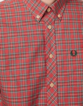 Image 3 ofFred Perry Oxford Shirt Tartan Pinpoint