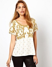 Virgos Lounge Vicky Embellished T Shirt