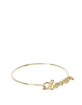Image 1 ofASOS &#39;Love&#39; Skinny Torque Bangle