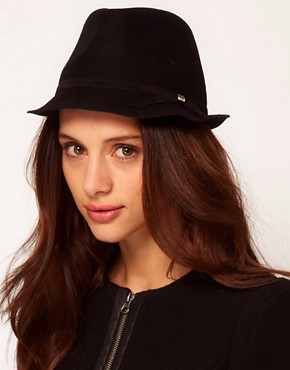 Image 1 ofCatarzi Exclusive To ASOS Small Brim Fedora