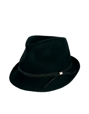 Image 2 ofCatarzi Exclusive To ASOS Small Brim Fedora