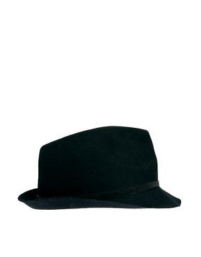 Image 4 ofCatarzi Exclusive To ASOS Small Brim Fedora