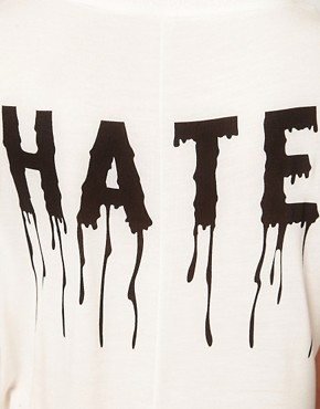 Image 3 ofVero Moda Dripping Love Hate T Shirt