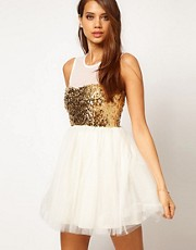 ASOS Party Dress with Sequin Bodice