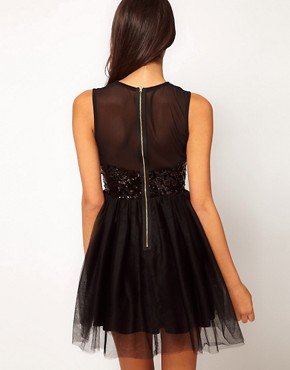 Image 2 ofASOS Party Dress with Sequin Bodice