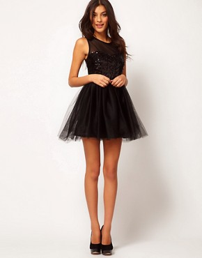 Image 4 ofASOS Party Dress with Sequin Bodice