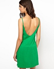 BA&SH Sundress in Slub Jersey with Low Back and Pockets