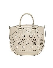 ASOS Leather Shopper Bag With Punchout Detail