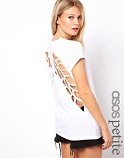 ASOS PETITE T-shirt With lazer Cut Wings