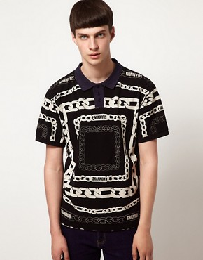 Image 1 ofKidda Christopher Shannon Polo with Chain Print