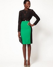 Lulu and Co Studio Color Block Pencil Skirt