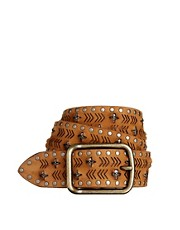 Zadig &amp; Voltaire Betty Wide Skull Belt