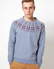 YMC Sweatshirt With Fairisle Pattern