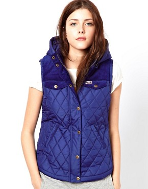 Image 1 ofUCLA Sleeveless Hooded Gilet