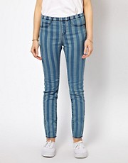 b + ab Stripe Denim Jegging